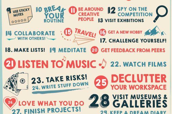 40 maneras de mantenerse creativo